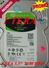 "HARD DISK  HD 1 TERA 7200 RPM 1 TB SATA 3.5"" IDEALE PER DVR NVR PC 1000 GB TOP"