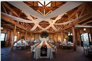 """Wedding Roof Panels Set of 2 White  57"""" wide with 1 pocket on each end."""