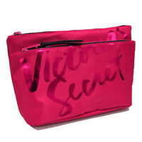 Victoria's Secret Cosmetic Bag Double Zip Travel Makeup Case Toiletries Vs New