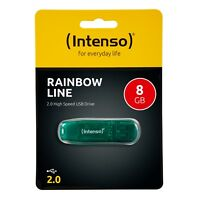 Intenso Rainbow Line 2.0 USB Stick 8 GB Speicherstick 8GB grün 3502460 neu OVP