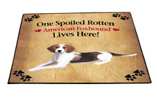 American Foxhound Spoiled Rotten Dog Floormat 18x24