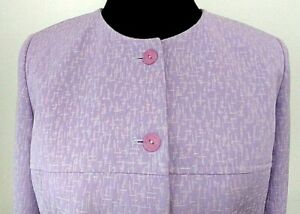 Adolfo Studio NWT Women's Career Blazer Jacket Purple Lavender sz 6 Lined