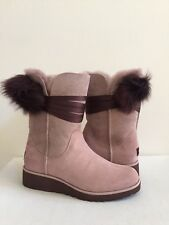 UGG BRITA DUSK LEATHER TOSCANA POM POM Boot US 10 / EU 41 / UK 8.5 NEW