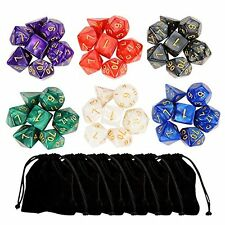 Outee 6 x 7 42 Pieces Polyhedral Dice Set 6 Colors 7-Die Series Dungeons and DND