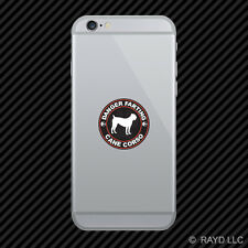 Danger Farting Cane Corso Cell Phone Sticker Mobile Die Cut