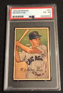 1952 Bowman Nellie Fox #21 PSA 4 VG-EX Chicago White Sox HOF