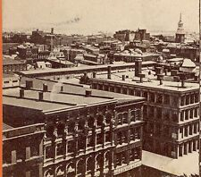 ORIG PHILADELPHIA PA. PHOTO STEREO CARD, NORTH EAST from ST. HOUSE STEEPLE TC593
