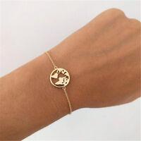 World Map Bangles Bracelet Jewelry Globe Travel Jewelry Chain Link Earth Gift D
