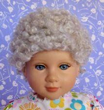 Kemper GRANDMA Gray Full Cap Doll Wig Size 14-15 100% MOHAIR, Woman