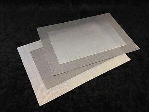 Tischset Silber Schwarz fein geflochten Kunststoff  Platzset  mit Fehlern