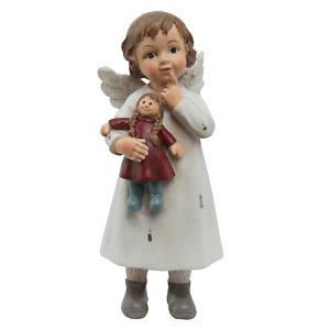 Clayre Eef Weihnachten Deko Weihnachtsschmuck Winterkind Engel mit Puppe