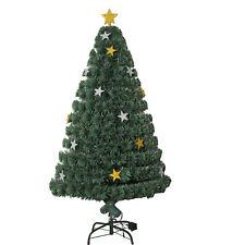HOMCOM Árbol de Navidad 180cm Árbol Artificial de Fibra Óptica + Luz LED