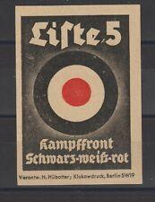 German Poster Stamp Political Imperf Large