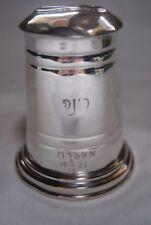 Antike jüdische Silber JUDAICA - Spardose / Sparbüchse /  Tzedakah Box um 1930