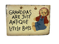 "handpainted slate roof tile ""grandpas are just antique little boys"""