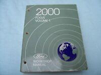 2000 FORD FOCUS VOLUME 1 & 2 WORKSHOP SERVICE MANUALS & WIRING DIAGRAMS