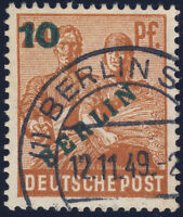 BERLIN, MiNr. 65 I, seltener PF, gestempelt, Befund Schlegel, Mi. 650,-