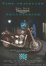 Triumph Thunderbird - a Genuine 1995 'What Bike' Magazine Advert - Jack Lilley