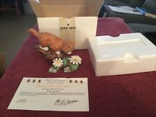 "Danbury Mint Cat Figurine ""Better Bee Careful"""