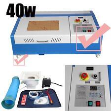 Multifunzionale 40W CO2 incisione del laser tagliatrice Incisore Cutter 4 ruota