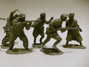 Publius Toy Soldier Red Army defense of Stalingrad WW2 , 6 figures 6 poses