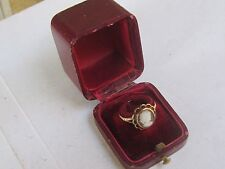 Antique Cameo Ring 9k Yellow Gold signed W&G