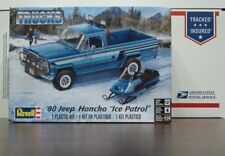 "Jeep 1980 Honcho Pickup with Snowmobile ""Ice Patrol"" 1:24 scale Revell kit"