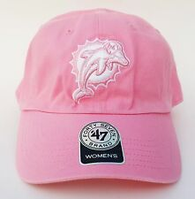 WOMEN'S MIAMI DOLPHINS CLEAN UP Strapback Hat Pink OSFA ($20) Cap NFL 47 Brand