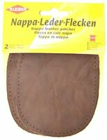 Kleiber Sew-on Nappa Leather elbow and knee patches 12.5 cm x 10 cm, Brown, 2 pe