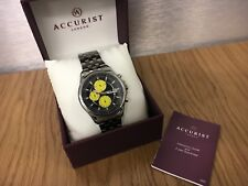 Mens Accurist MB932BY Stainless steel  Chronograph Sports watch  RRP £149.
