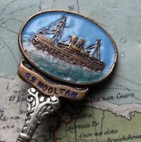 c1920's SS HMS Mooltan P&O Shipping Line Liner Enamel Spoon WW2 History