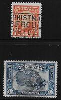 Canada Scott #141 & 145, Singles 1927 FVF Used