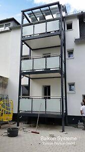 2 Balkone 3 x 1,5 m inkl. Montage Anbaubalkon, Vorstellbalkon, Stahlbalkon