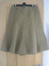 Women's  FAT FACE khaki cargo A-line skirt size 12