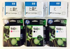 Set 6 New Genuine HP 940XL 940 Black & Color Ink Cartridges Cyan Yellow Magenta