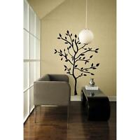 Black TREE MURAL GiaNT WALL DECALS Leaves & Branches Stickers Modern Room Decor