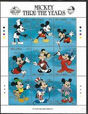 GAMBIA 1989 MNH MICKEY MOUSE, 60TH ANNIVERSARY MINIATURE SHEET