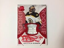 2015-16 UD The Cup #172 MALCOLM SUBBAN Rookie Patch Auto Red Tag 6/8