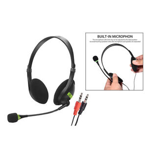 3,5 mm Headset mit Mikrofon Geräuschunterdrückung für Skype Handy Callcenter