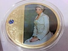 Princess Lady Diana Gold Plated Coin & Jewel Portraits Of A Princess Super Sized