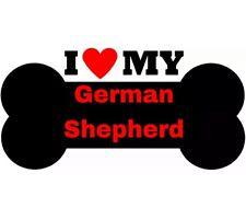 I Love My German Shepherd dog window vinyl decal Stickers Puppy Paw K9