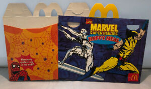 VIntage McDonalds Australia 1998 Marvel Super Heroes Happy Meal Box - Brand New