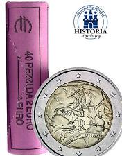 40 x Italien 2 Euro Gedenkmünze 2008 bfr. 60 Jahre Menschenrechte in Rolle