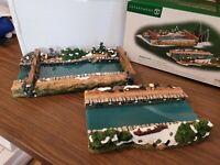 Dept 56 Dickens Village 2000 ABINGTON LOCKS 2 Pc 58521 RETIRED 2003 Canal Series