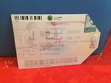 Football Ticket -  Feyenoord - FC Basel -  UEFA 2000