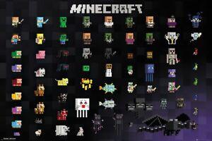 "Minecraft - Gaming Poster / Print (PIXel Sprites - Collage) (Size: 36"" X 24"")"