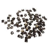 100x 6mm DIY Pyramiden Nieten Ziernieten Gothic Bronze fuer Guertel Mantel