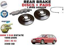 für BMW 3 E46 330 Kombi 320mm Bremsscheiben SET HINTEN+BREMSBELÄGE SATZ + Sensor