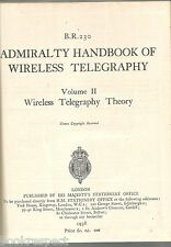 ADMIRALTY HANDBOOK of WIRELESS TELEGRAPHY 1941 V1 Magnetism Electricity 2 Theory