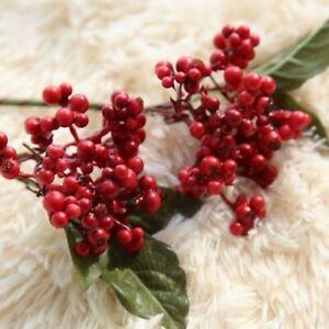 Bean Branch Simulation Flower Christmas Berry Artificial Flower Home Decor